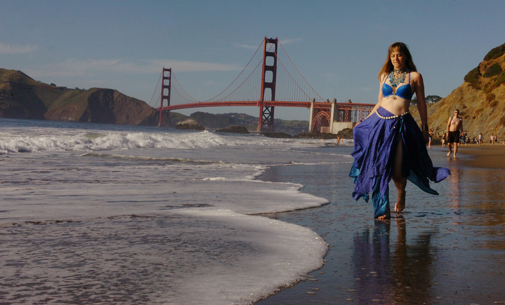 Duchess Mermaid takes a moment at San Francisco's Baker Beach April 16, 2016