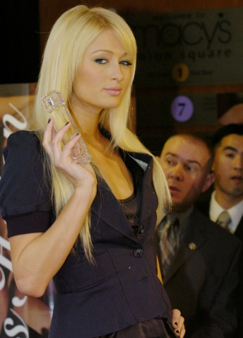 "Paris Hilton made an appearance at Macy's in San Francisco to launch her new fragrance, ""Heiress,"" November 20,  2006."