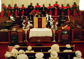 All are welcome for services at the Ebenezer Baptist Church, including pastors of other faiths.