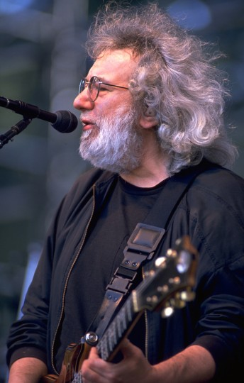 Jerry Garcia performs with the Grateful Dead at the Seattle Memorial Coliseum,  June 14, 1994.