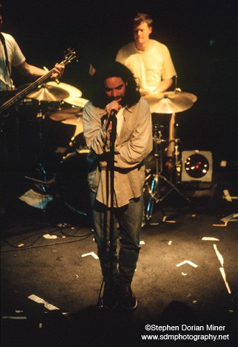 Train performs at the Paradise Lounge in San Francisco, January 17, 1997.