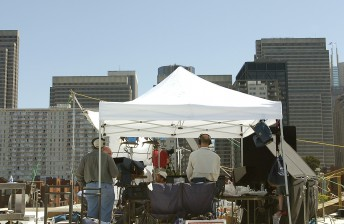 ABC Nightly News takes its show on the road, broadcasting from the rooftop of KGO Studios in San Francisco May 8, 2007.