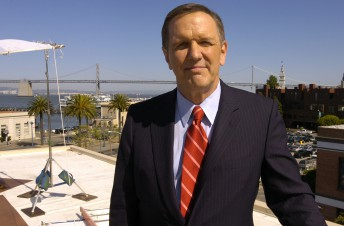 ABC news anchor Charles Gibson on location atop the roof of KGO Studios in San Francisco May 8, 2007.