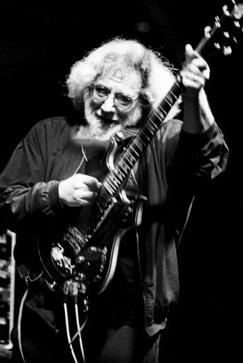 Jerry Garcia performs with the Grateful Dead at the Seattle Memorial Stadium, June 14, 1994.