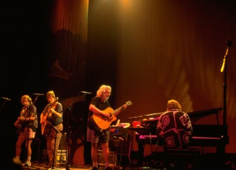 Bob Weir, Phil Lesh,  Jerry Garcia and Vince Welnick (left to right) of the Grateful Dead perform as Phil Lesh and Friends at the Berkeley Community Theater in Berkeley, Calif., September 24, 1994.