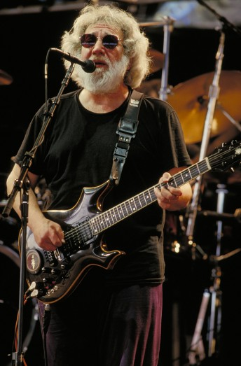 Jerry Garcia performs with the Grateful Dead at the Desert Sky Pavilion in Chandler, Ariz., March 6, 1994.  Photo by Stephen Dorian Miner