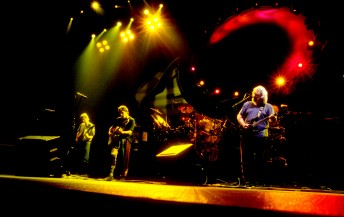 The Grateful Dead perform at the Oakland Coliseum, February 26, 1995.