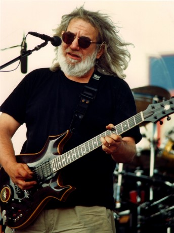 Jerry Garcia peforms with the Grateful Dead at the UNLV Silver Bowl in Las Vegas, May 25, 1995.