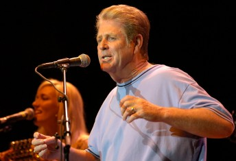 Former Beach Boy Brian Wilson performs during the Bridge School Benefit at Shoreline Amphitheater in Mountain View, Calif., October 21, 2006.  In its 20th year, the show's proceeds go to the Bridge School, which teaches devlopmentally disabled children.  Photo by Stephen Dorian Miner