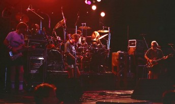 The Grateful Dead perform at the Deer Creek Music Center in Noblesville, Ind., July 19, 1990.