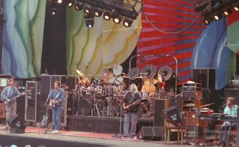 The Grateful Dead perform at the Greek Theater on the University of California's Berkeley campus, August 19, 1989.