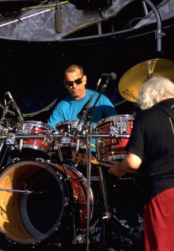 Mickey Hart performs with the Grateful Dead at the Shoreline Amphitheater in Mountain View, Calif., September 18, 1994.