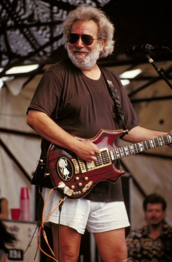 Jerry Garcia performs at the UNLV Silver Bowl in Las Vegas, May 16, 1993.