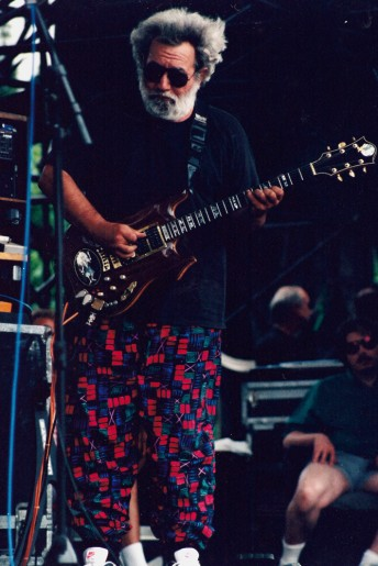 Jerry Garcia performs with the Grateful Dead at the UNLV Silver Bowl in Las Vegas, May 30, 1992.