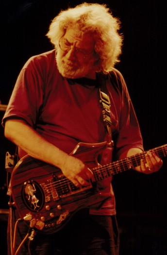 Jerry Garcia performs with the Grateful Dead at the Sam Boyd Silver Bowl, Las Vegas, June 26, 1994.