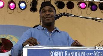 Robert Randolph performs during local radion station KFOG's annual Kaboom event at San Francisco's Pier 32, May 22, 2004