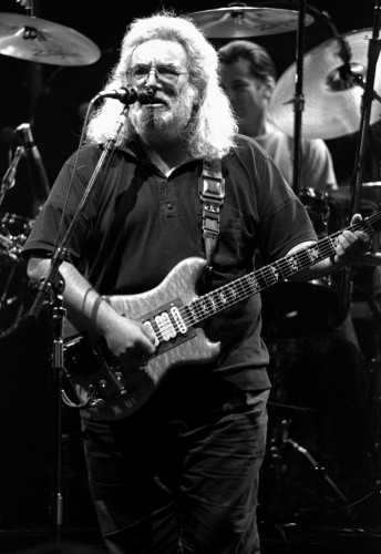 Jerry Garcia performs with the Grateful Dead at the Los Angeles Forum, December 9, 1989. Photo by Stephen Dorian Miner