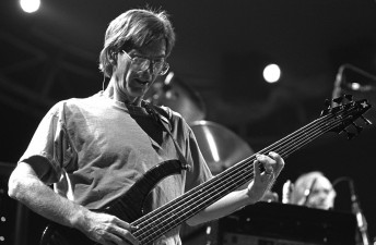 Phil Lesh, bassist for the Grateful Dead performs at the Oakland Coliseum, February 26, 1995. Photo by Stephen Dorian Miner