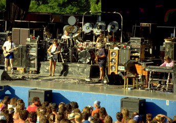 The Grateful Dead perform at the Sandstone Amphitheater in Bonner Springs, Kan., July 4, 1990. Photo by Stephen Dorian Miner