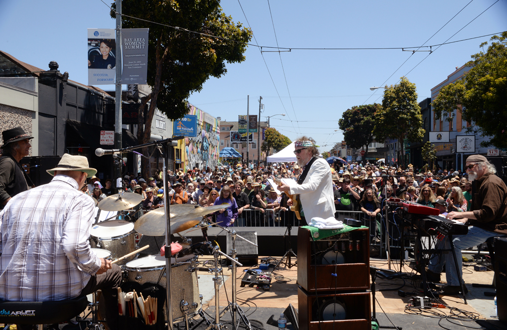 During the Haight Street Fair in San Francisco, June 12, 2016