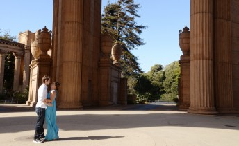 Mike and Kendra take a moment at San Francisco's Palace of Fine Arts July 7, 2016