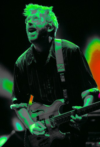 "Trey Anastasio performs with Phish at the Shoreline Amphitheater, Mountain View, Calif., October 7, 2000.  What was ""dubbed"" the bad's last show, turned out not to be as Phish reunited soon after and continue making and playing music through 2018, so far."