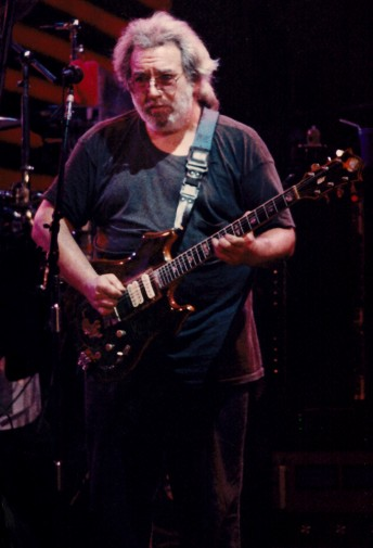 Jerry Garcia performs with the Grateful Dead at the Apline Valley Music Theater in East Troy, Wis., July 17, 1989