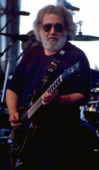 Jerry Garcia performs with the Grateful Dead at Autzen Stadium, Eugene, Ore., August 22, 1993