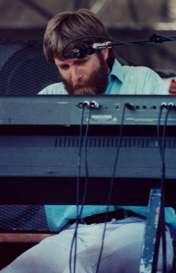 Brent Mydland performs with the Grateful Dead at the Cal State Dominguez Hills soccer field in Carson, Calif., May 5, 1990