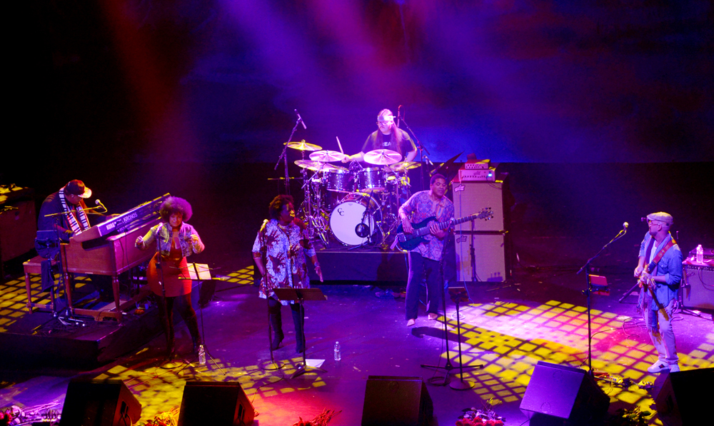 "Melvin Seals and the JGB perform at the Warfield Theater in San Francisco, January 12, 2019.  The shows were billed as ""Like A Road Leading Home,"" and were played as a  tribute to the live album of the same name that was culled from Jerry Garcia Band performances at the famed venue in 1990.  Photo by Stephen Dorian Miner"