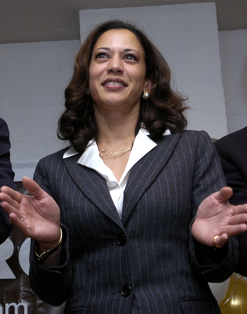 Then San Francisco DA Kamala Harris, in this November 8, 2005 file photo, will be the first woman of color to appear on a presidential ticket. Vice President Joe Biden chose Harris as his running mate earlier today. Photo by Stephen Dorian Miner